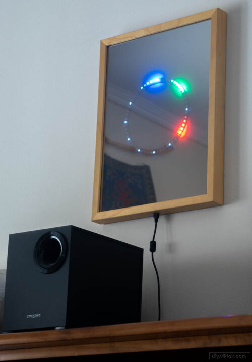 Mirror LED Clock